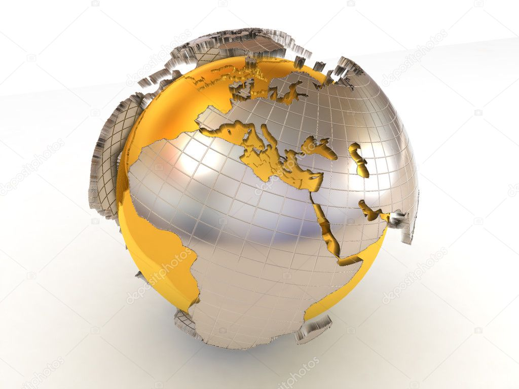 Earth. 3d  Stock Photo #1411501
