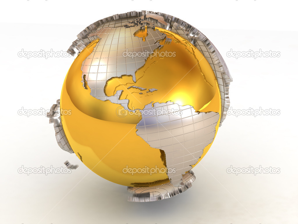 Earth. 3d — Stock Photo #1411505
