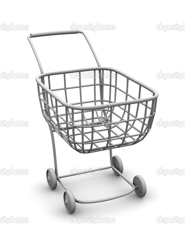Consumer's basket. 3d — Stock Photo #1411568
