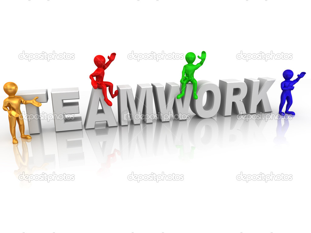 Teamwork. 3d  Stock Photo #1412683