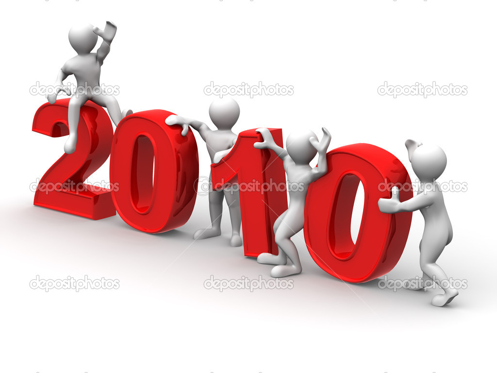 New Year. 2010. 3d  Stock Photo #1413007