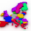 Map of europe — Stock Photo #2400497