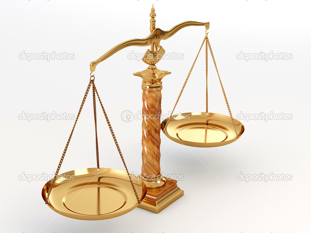 Symbol of justice. Scale. 3d — Stock Photo #2400666