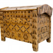 Antique wooden chest — Foto Stock