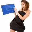 Surprised women with papper bag — Stock Photo #1447078