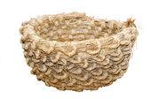 Big hand-made straw basket — Stock Photo