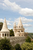 Budapest castle towers fabulous looking — Stock Photo