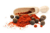 Scoop in heap of pepper — Stock Photo
