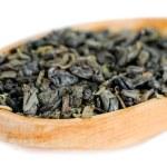 foglie di tè verde naturale — Foto Stock