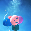 Colored balloons in the sky — Stock Photo