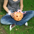 Pumpkin for Halloween - Stockfoto