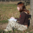 Stock Photo: Study at the nature