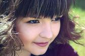 Smiling sly girl — Stock Photo