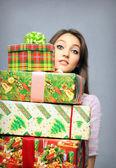 Christmas purchasing — Stock Photo