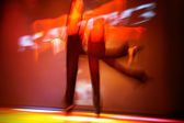 Two dancers on the stage — Stock Photo