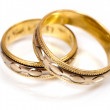 Two golden wedding rings — Stock Photo