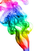 Rainbow Twirling Smoke — Stock Photo
