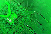 Green circuit board without components. — Stock Photo