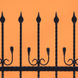 Black fence silhouette - Stock Photo