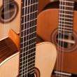Classical acoustic guitar — Stock fotografie