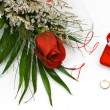 Wedding rings and rose — Stock Photo #1464760