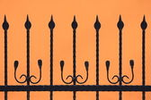 Black fence silhouette — Stock Photo