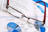 финансовый отчет — Стоковое фото
