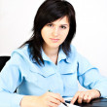 Businesswoman writing. — Stock Photo #1767798