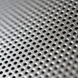 Foto de Stock  : Silver-steel mesh background.