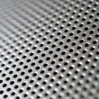 Silver-steel mesh background. - Photo