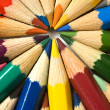 Color pencils in arrange — Stock Photo