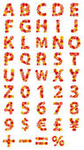 美丽的鲜花字母表 — 图库照片