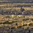 Notre Dame From Eiffel Tower — Stockfoto
