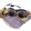 Stock Photo: Protective Goggles With Gloves
