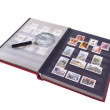 Stock Photo: Stamp Album Isolated