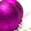 Pink Christmas decoration balls — Stock Photo
