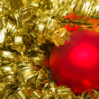 Red Christmas decoration ball — Stock Photo