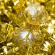 Golden Christmas decoration ball — Stock fotografie