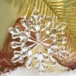 Crystal snowflake — Stock Photo
