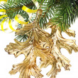 Foto Stock: Christmas decoration on a fir-tree