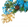 Christmas decoration on a fir-tree — Stock Photo #1403993