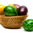easter eggs in a basket — Stock Photo #1404058