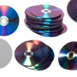 Stack of Cd or DVD roms isolated - Stock Photo