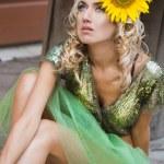 Fashionable woman like a doll — Stock Photo #1405488