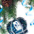 Christmas decoration on a fir-tree — Stock Photo #1406269