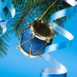 Christmas decoration on a fir-tree — Stock fotografie