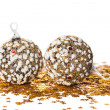 Festive decoration with gold stars — Stock Photo