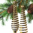 Christmas decoration on a fir-tree — Stock Photo #1406470