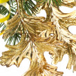 Christmas decoration on a fir-tree — Stok fotoğraf