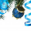 Christmas decoration on a fir-tree — Stock Photo #1406598